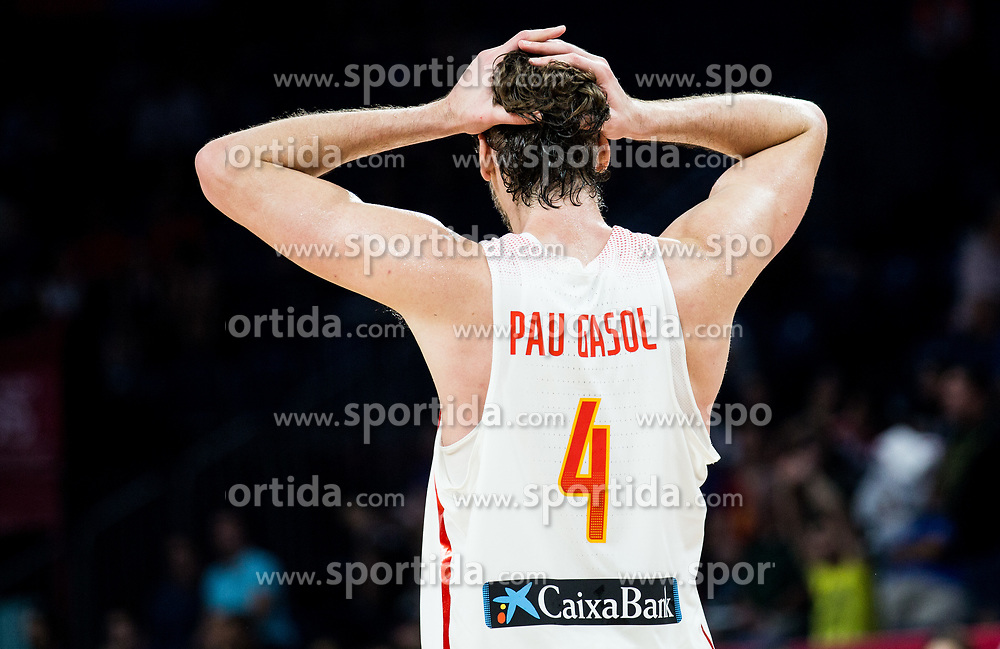 Pau Gasol of Spain reacts during basketball match between National Teams  Spain and Russia at Day 18 in 3rd place match of the FIBA EuroBasket 2017 at Sinan Erdem Dome in Istanbul, Turkey on September 17, 2017. Photo by Vid Ponikvar / Sportida