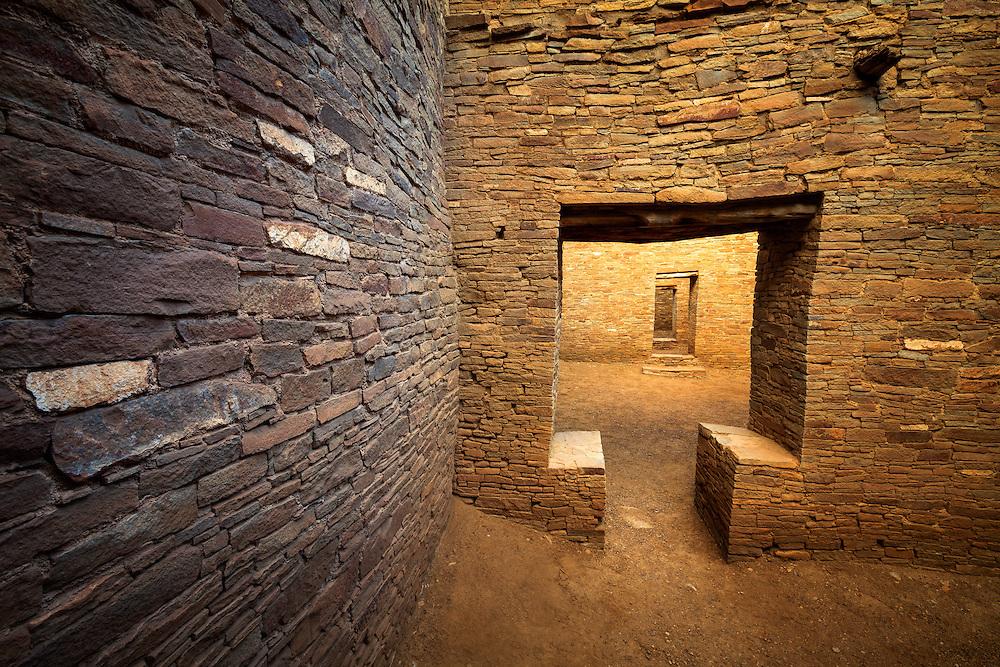 T-Door, Pueblo Bonito ruin. Chaco Culture National Historical Park in New Mexico.