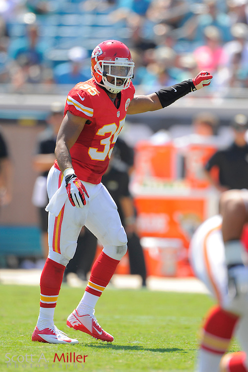 Kansas City Chiefs linebacker Josh Martin (95) during the Chiefs 28-2 win over the Jacksonville Jaguars at EverBank Field on Sept. 8, 2013 in Jacksonville, Florida. The <br /> <br /> &copy;2013 Scott A. Miller