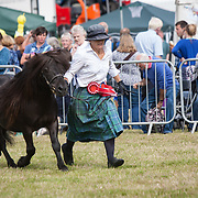 CR0002852 Kinross Show. Sarah Ross from Devonshaw with Roserhum of Transie, Champion Shetland Pony. 11 Aug 2018 © Copyright photograph by Tina Norris. Contact Tina on 07775 593 830 info@tinanorris.co.uk All print sales via Tina Norris. www.tinanorris.co.uk http://tinanorris.photoshelter.com