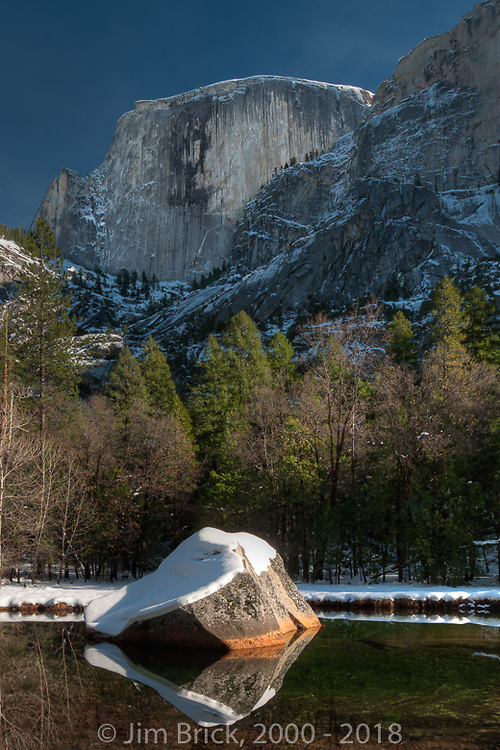 Mirror Lake and Half Dome.