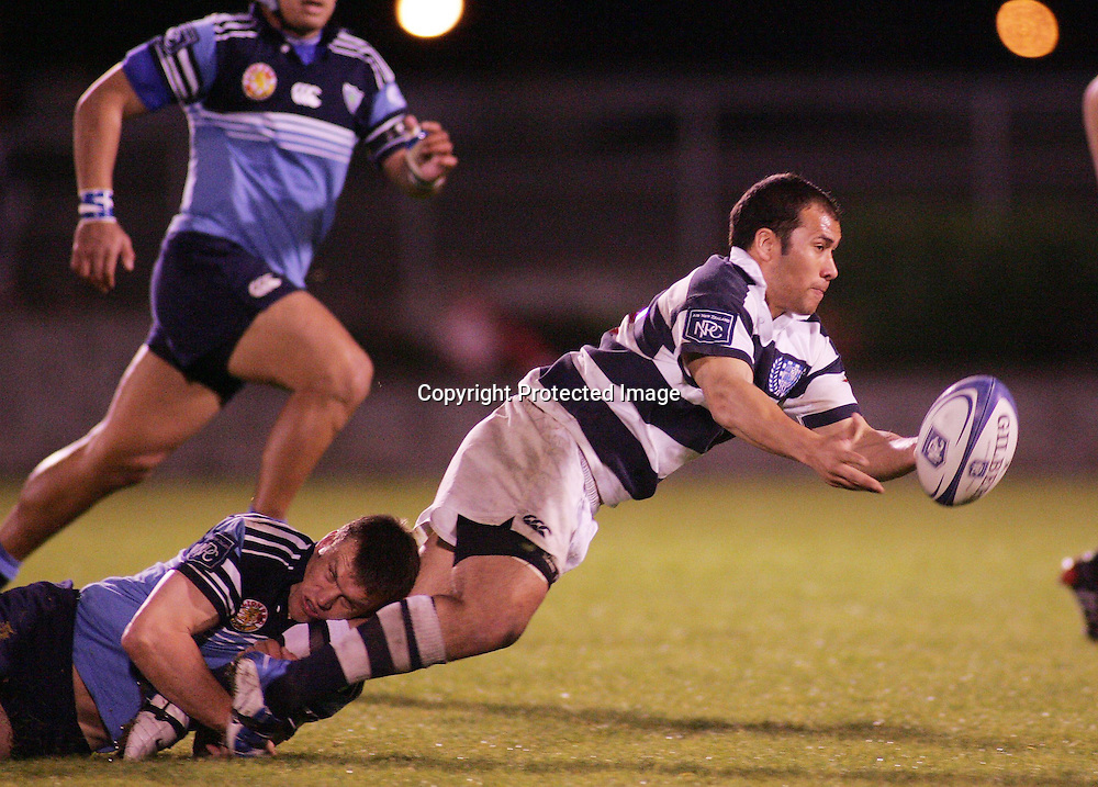 Nick Buckley in action during the NPC first division match between Northland and Auckland at Whangarei, Northland, New Zealand. Saturday 21 August 2004 . Auckland won the game 37-29 <br />