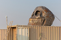I really like this skull at Gate not sure the name of the artist. My Burning Man 2018 Photos:<br />