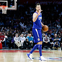 09 December 2017: LA Clippers forward Danilo Gallinari (8) brings the ball up court during the LA Clippers 113-112 victory over the Washington Wizards, at the Staples Center, Los Angeles, California, USA.