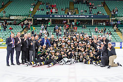 The London Knights defeated the Rouyn-Noranda Huskies 3-2 in the first overtime period to win the 2016 MasterCard Memorial Cup. Photo by Rob Wallator / CHL Images.