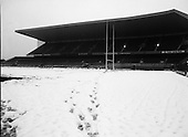 1985 - A Snowcovered Lansdowne Road Stadium