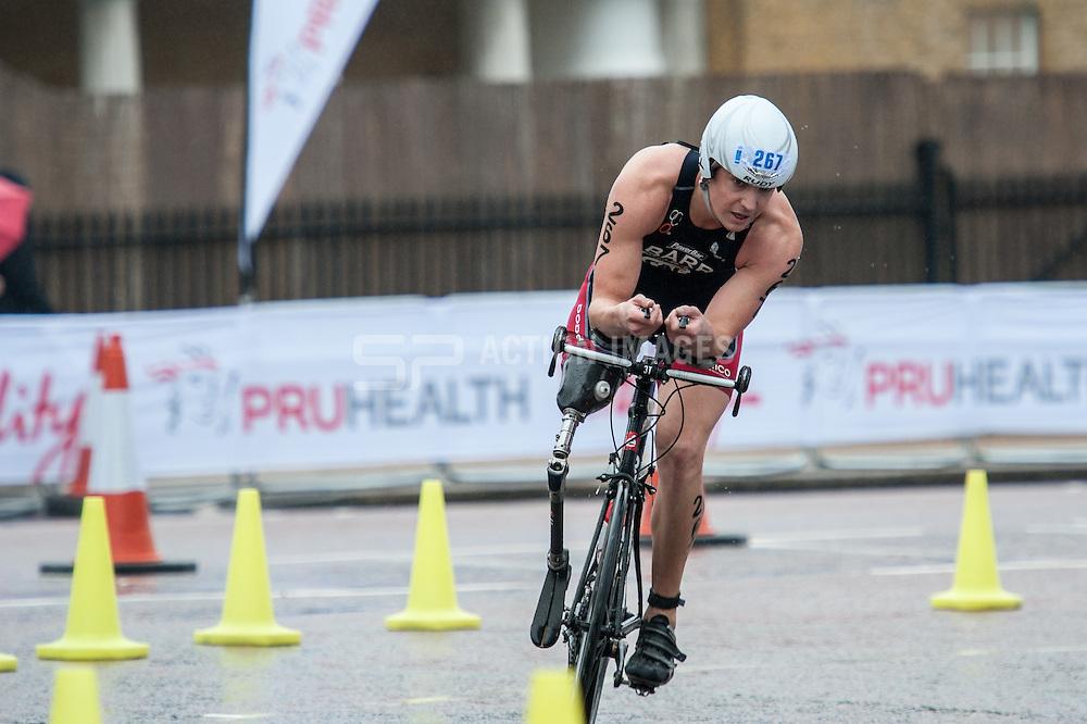 Mark Barr (USA), World Triathlon Championships ParaTriathlon, Hyde Park London, UK on 13 September 2013. Photo: Simon Parker