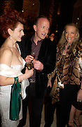 Cleo Rocos, Simon Sebag-Montefiore and Princess Michael of Kent. Book party for LAST VOYAGE OF THE VALENTINA by Santa Montefiore (Hodder & Stoughton) Asprey,  New Bond St. 12 April 2005. ONE TIME USE ONLY - DO NOT ARCHIVE  © Copyright Photograph by Dafydd Jones 66 Stockwell Park Rd. London SW9 0DA Tel 020 7733 0108 www.dafjones.com