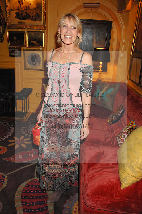INGRID TARRANT at a party to launch Crosley Diamonds at Annabels, Berkeley Square, London on 15th November 2007.<br />