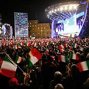 Torino 2006, cerimonie serali di premiazione dei XX Giochi olimpici invernali in Piazza Castello (Medal Plaza)