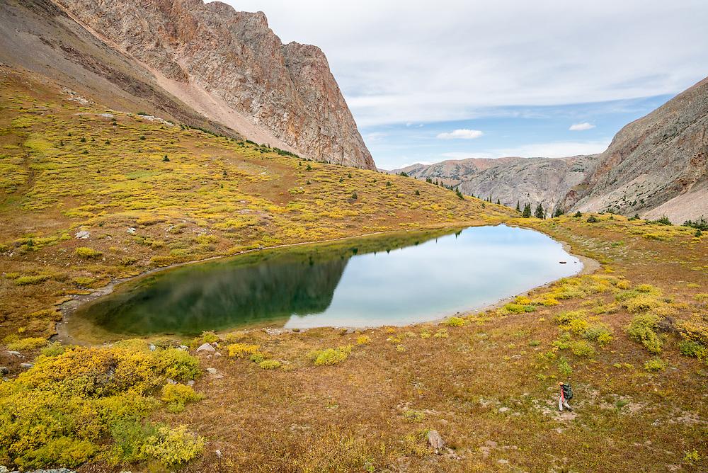 Alpine lake in the Weminuche Wilderness, Colorado.
