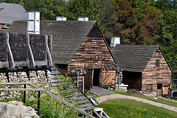 Forge building and Silting Mill building at Saugus Iron Works National Historic Site, Saugus, Massachusetts, United States of America