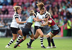 Lucy Attwood of Bristol Bears Women takes on the Harlequins defence - Mandatory byline: Patrick Khachfe/JMP - 07966 386802 - 15/09/2018 - RUGBY UNION - The Twickenham Stoop - London, England - Harlequins Ladies v Bristol Bears Women - Tyrrell's Premier 15s