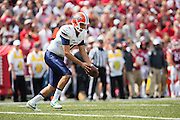 FAYETTEVILLE, AR - SEPTEMBER 5:  Alan Luna #46 of the UTEP Miners punts the ball during a game against the Arkansas Razorbacks at Razorback Stadium on September 5, 2015 in Fayetteville, Arkansas.  The Razorbacks defeated the Miners 48-13.  (Photo by Wesley Hitt/Getty Images) *** Local Caption *** Alan Luna