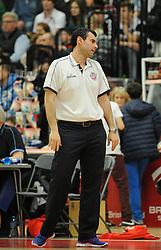 Bristol Flyers head coach, Andreas Kapoulas - Photo mandatory by-line: Dougie Allward/JMP - Mobile: 07966 386802 - 13/03/2015 - SPORT - Basketball - Bristol - SGS Wise Campus - Bristol Flyers v Leicester Riders - British Basketball League