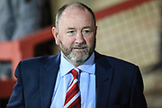 Cheltenham Town manager Gary Johnson  during the EFL Trophy match between Cheltenham Town and Forest Green Rovers at Whaddon Road, Cheltenham, England on 3 October 2017. Photo by Shane Healey.