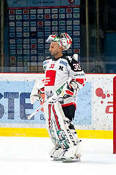 20.11.2015, Ice Rink, Znojmo, CZE, EBEL, HC Orli Znojmo vs HC TWK Innsbruck Die Haie, 22. Runde, im Bild Andy Chiodo (HC TWK Innsbruck) // during the Erste Bank Icehockey League 22nd round match between HC Orli Znojmo and HC TWK Innsbruck Die Haie at the Ice Rink in Znojmo, Czech Republic on 2015/11/20. EXPA Pictures © 2015, PhotoCredit: EXPA/ Rostislav Pfeffer