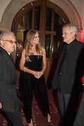 JEREMY THOMAS; CRESSIDA  BONAS; JAMES FOLEY, Luminous -Celebrating British Film and British Film Talent,  BFI gala dinner & auction. Guildhall. City of London. 6 October 2015.