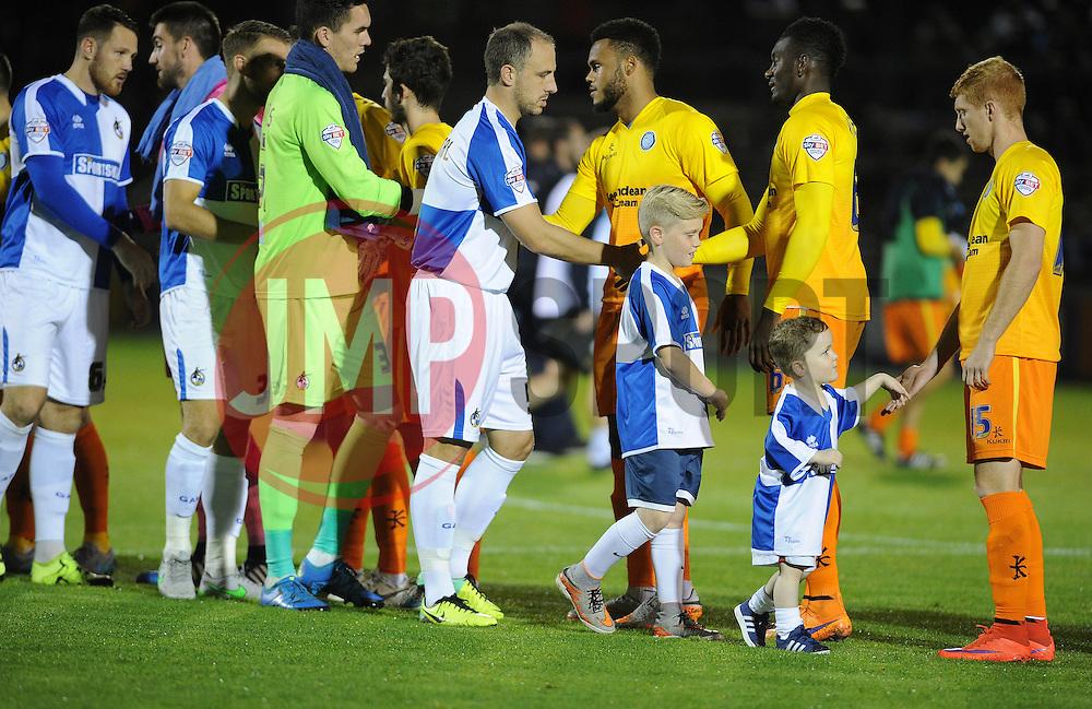 Bristol Rovers mascots - Mandatory byline: Neil Brookman/JMP - 07966 386802 - 06/10/2015 - FOOTBALL - Memorial Stadium - Bristol, England - Bristol Rovers v Wycombe Wanderers - JPT Trophy
