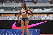 Morgan Lake of Great Britain in the Woman Long Jump during the Sainsbury's Anniversary Games at the Queen Elizabeth II Olympic Park, London, United Kingdom on 25 July 2015. Photo by Phil Duncan.