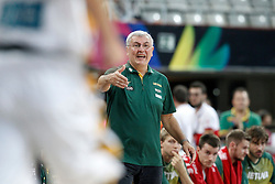 09.09.2014, City Arena, Barcelona, ESP, FIBA WM, Litauen vs Türkei, Viertelfinale, im Bild Lithuania's coach Jonas Kazlauskas // during FIBA Basketball World Cup Spain 2014 quarterfinal match between Lithuania and Turkey at the City Arena in Barcelona, Spain on 2014/09/09. EXPA Pictures © 2014, PhotoCredit: EXPA/ Alterphotos/ Acero<br /> <br /> *****ATTENTION - OUT of ESP, SUI*****