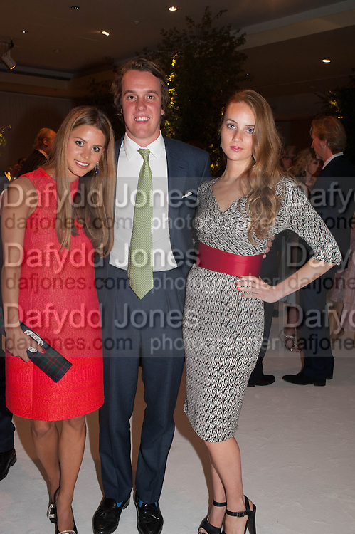 IRENE FORTE; MICHAEL WALKER; PETRA PALUMBO, The Cartier Chelsea Flower show dinner. Hurlingham club, London. 20 May 2013.