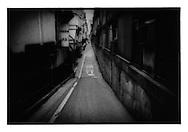 Alleyway in Ginza, Tokyo, Japan.