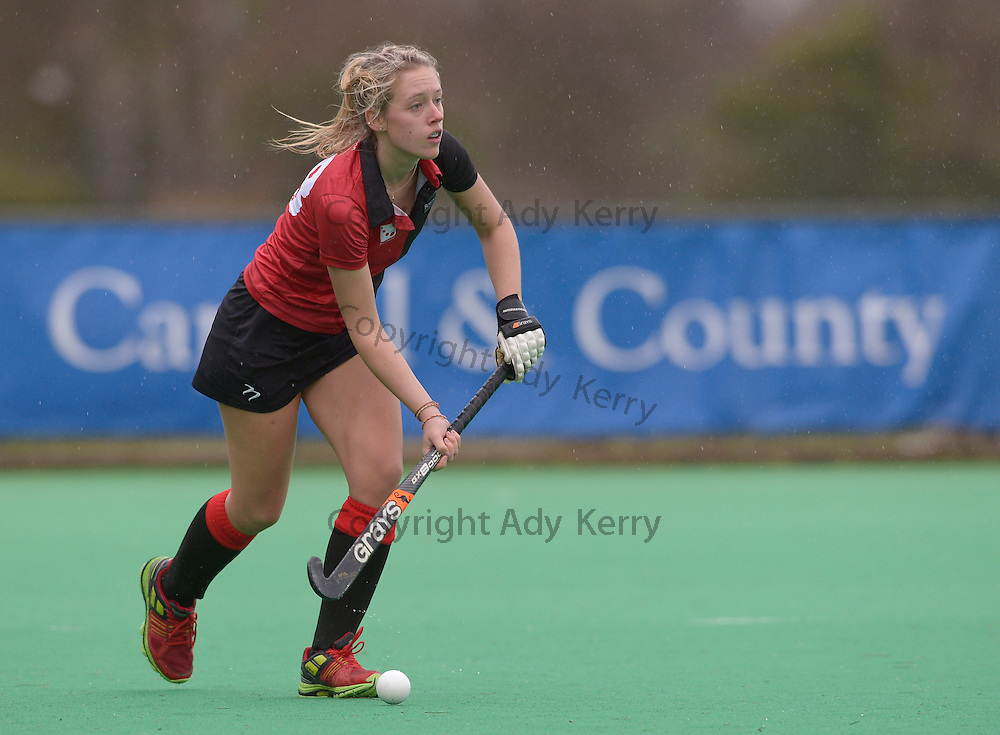Bowdon's Sophie Crosley during their Investec Women's Hockey League Premier Division game at Canterbury HC, 8th February 2014.