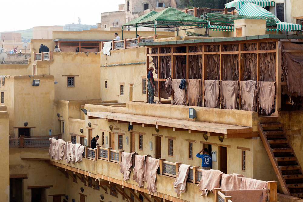 Chouwara Tannery, Fez Medina, Morocco, 2016-12-03.<br />