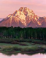 Mount Moran at dawn, Grand Teton National Park, Wyoming USA