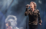 The Rolling Stones headline the Pyramid stage at Glastonbury Festival in Somerset  on Saturday, 29June 2013