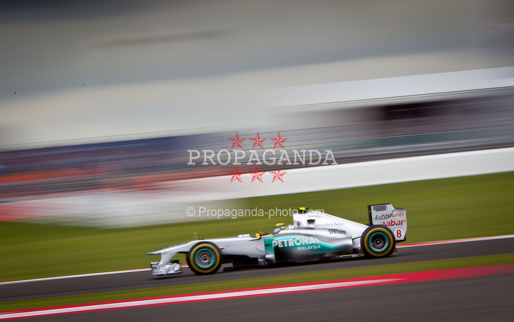 09.07.2011, Silverstone Circuit, Silverstone, GBR, F1, Großer Preis von Großbritannien, Silverstone, im Bild Nico Rosberg (GER), Mercedes GP Petronas F1 Team // during the Formula One Championships 2011 British Grand Prix held at the Silverstone Circuit, Northamptonshire, United Kingdom, 2011-07-09, EXPA Pictures © 2011, PhotoCredit: EXPA/ J. Feichter