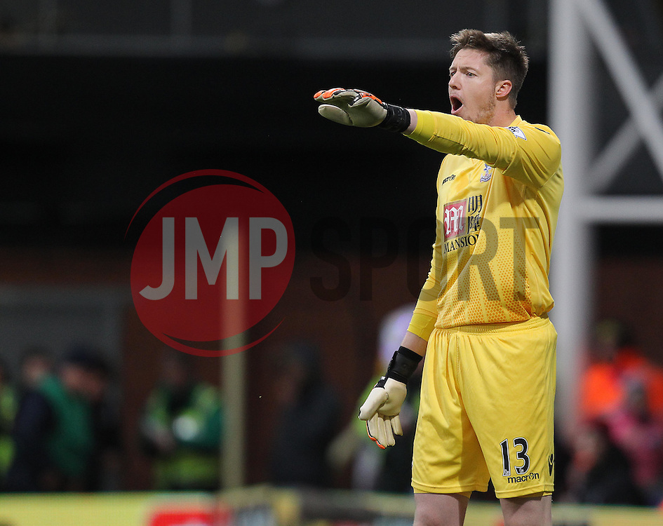 Wayne Hennessey of Crystal Palace - Mandatory byline: Paul Terry/JMP - 12/12/2015 - Football - Selhurst Park - London, England - Crystal Palace v Southampton - Barclays Premier League