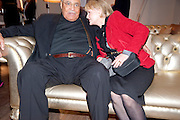 JAMES EARL JONES; CECILIA HART;, The Society of London Theatre lunch for all the nominees for the 2010 Laurence Olivier Awards. Haymarket Hotel, 1 Suffolk Place, London, 2 March 2010 *** Local Caption *** -DO NOT ARCHIVE-&copy; Copyright Photograph by Dafydd Jones. 248 Clapham Rd. London SW9 0PZ. Tel 0207 820 0771. www.dafjones.com.<br /> JAMES EARL JONES; CECILIA HART;, The Society of London Theatre lunch for all the nominees for the 2010 Laurence Olivier Awards. Haymarket Hotel, 1 Suffolk Place, London, 2 March 2010