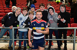 Andy Uren of Bristol Rugby poses with fans - Mandatory by-line: Alex Davidson/JMP - 08/12/2017 - RUGBY - Ashton Gate Stadium - Bristol, England - Bristol Rugby v Leinster 'A' - B&I Cup