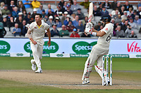 Cricket - 2019 Australia Ashes Tour of England - 4th Test, Day Three<br /> <br /> Joe Root,  pulls , at Old Trafford.<br /> <br /> COLORSPORT/WINSTON BYNORTH