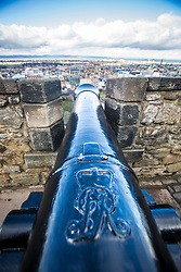 View of Princes Street, Edinburgh as seen from the Edinburgh Castle Esplanade.