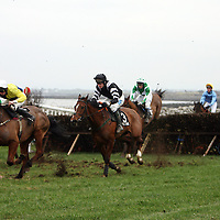 Action from the fifth race at the annual point to point meeting at Belhabour on Sunday.<br />