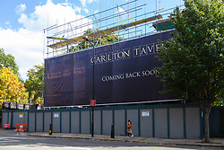 The Carlton Tavern in Kilburn, North West London, which property developers are having to rebuild 'brick-by-brick' after they tore the old pub down as it was being listed for its historic significance. London, September 07 2018.