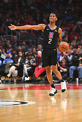 March 8, 2019 - Los Angeles, CA, U.S. - LOS ANGELES, CA - MARCH 08: Los Angeles Clippers Guard Shai Gilgeous-Alexander (2) sets up the offense during a NBA game between the Oklahoma City Thunder and the Los Angeles Clippers on March 8, 2019 at STAPLES Center in Los Angeles, CA. (Photo by Brian Rothmuller/Icon Sportswire) (Credit Image: © Brian Rothmuller/Icon SMI via ZUMA Press)