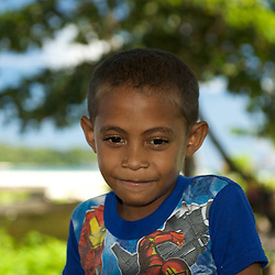 Portrait of a papuan boy.