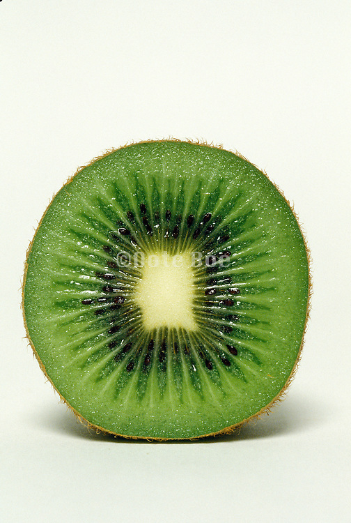 a kiwi cut in half