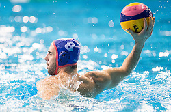 Georgios Ntoskas of Olympiacos during water polo match between Primorje Erste Bank (CRO) and Olympiacos Piraeus (GRE) in 8th Round of Champions League 2016, on April 16, 2016 in Kantrida pool, Rijeka, Croatia. Photo by Vid Ponikvar / Sportida