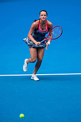 January 17, 2019 - Melbourne, VIC, U.S. - MELBOURNE, VIC - JANUARY 17: VIKTORIA KUZMOVA (SVK) during day four match of the 2019 Australian Open on January 17, 2019 at Melbourne Park Tennis Centre Melbourne, Australia (Photo by Chaz Niell/Icon Sportswire) (Credit Image: © Chaz Niell/Icon SMI via ZUMA Press)