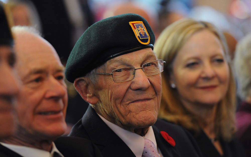 2/3/15 2:49:01 PM -- Washington, DC, U.S.A  -- John Tedore, 90, of West Des Moines, Iowa was among the Congressional Gold Medal recipients at a ceremony at the U.S. Capitol Tuesday. The medal was presented to members of the First Special Service Force whose fearlessness and bravery contributed to the liberation of Europe and end to World War II.  Photo by H. Darr Beiser, USA TODAY Staff ORG XMIT:  HB 132528 GAN CONGRESS l 02/03/2015 (Via OlyDrop)