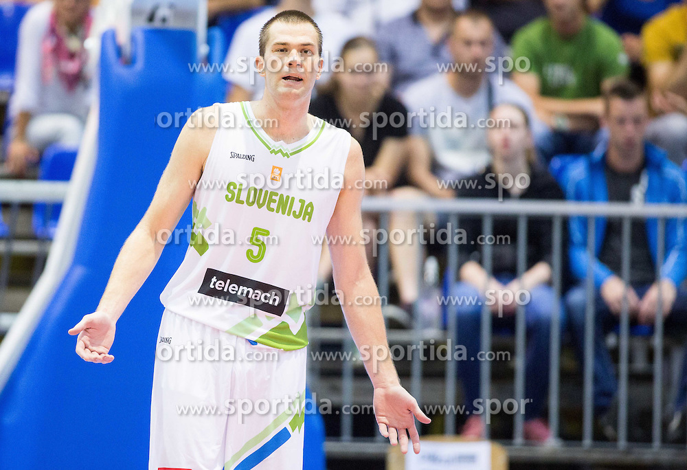 Uros Slokar of Slovenia during friendly basketball match between National teams of Slovenia and Ukraine at day 3 of Adecco Cup 2014, on July 26, 2014 in Rogaska Slatina, Slovenia. Photo by Vid Ponikvar / Sportida.com