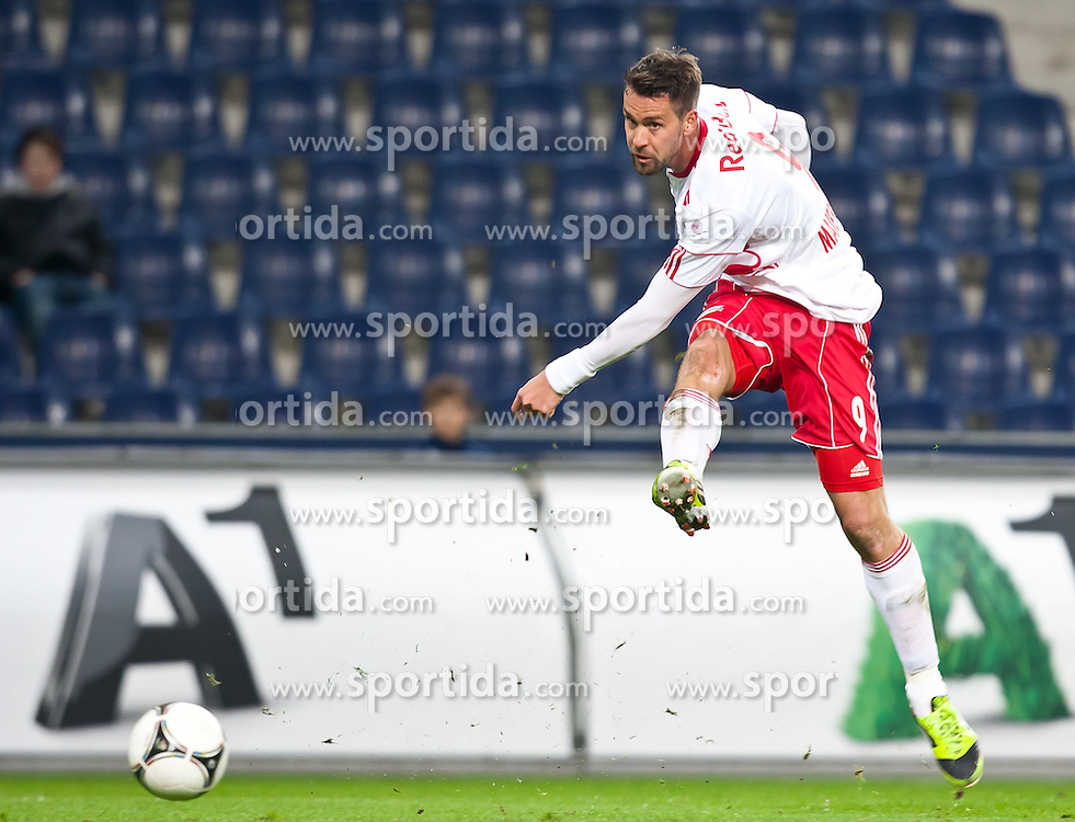 "21.03.2012, Red Bull Arena, Salzburg, AUT, 1. FBL, 26. Spieltag, Red Bull Salzburg vs SC Wiener Neustadt im Bild Stefan Maierhofer, (Red Bull Salzburg, #9) // during the Austrian ""Bundesliga"" Match, 26th Round, between Red Bull Salzburg and SC Vienna Neustadt at the Red Bull Arena, Salzburg, Austria on 2012/03/21. EXPA Pictures © 2012, PhotoCredit: EXPA/ Juergen Feichter"