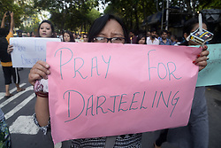 June 20, 2017 - Kolkata, India - Student rallied with poster, banner and candles to show solidarity for the people of Darjeeling in Kolkata. Student from Darjeeling along with other student holds a solidarity rally for the people of Darjeeling and also appeal to withdraw of paramilitary forces from Darjeeling and the adjacent area on June 20, 2017 in Kolkata. (Credit Image: © Saikat Paul/Pacific Press via ZUMA Wire)