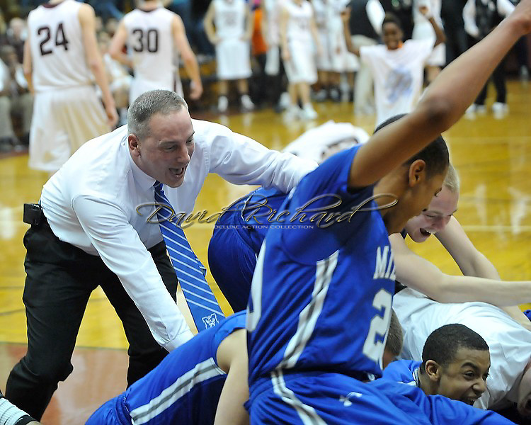Midview at Rocky River boys varsity basketball on January 27, 2012.