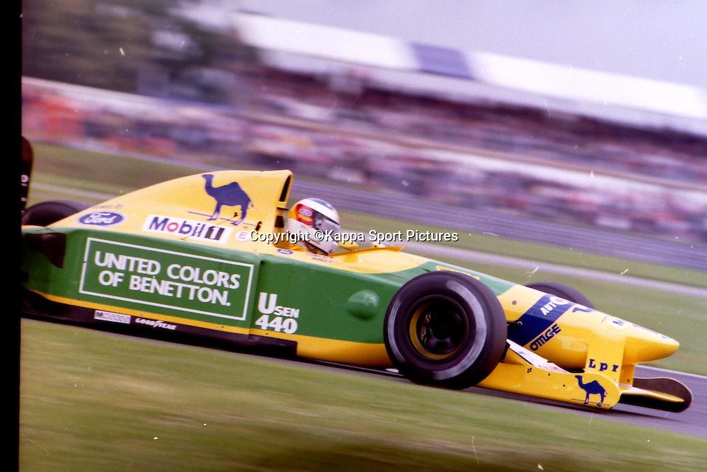 Michael Schumacher, German, Benetton Ford,  British Formula One Grand Prix, Silverstone, July 1990British Formula One, Practice Grand Prix, Sllverstone, 12th July 1992